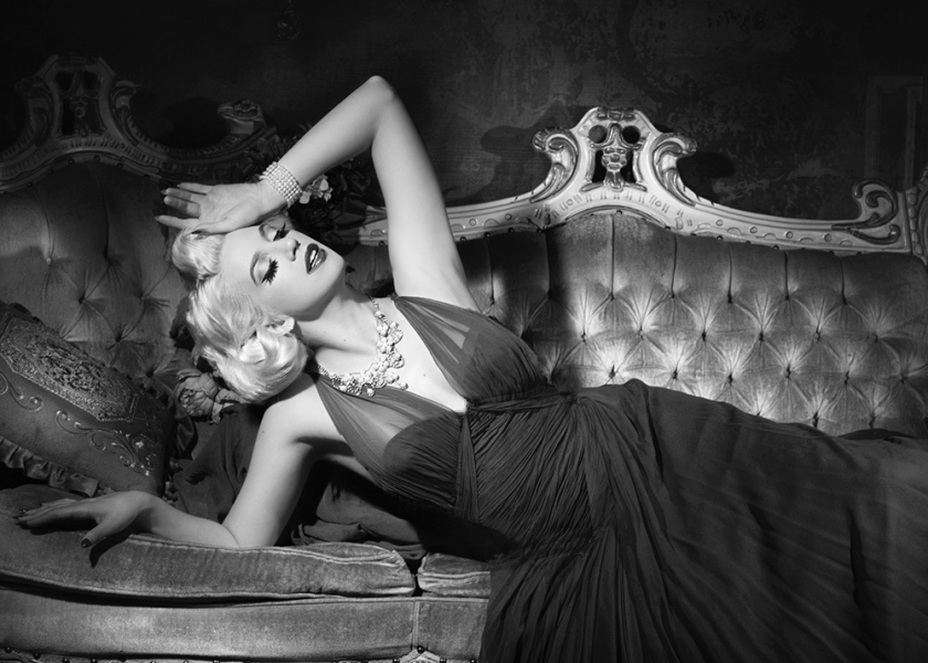 Old hollywood glamour portrait